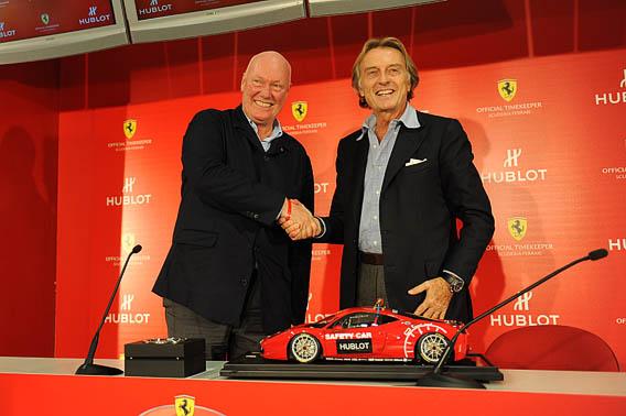accord scellé entre Hublot et Ferrari (Jean-Claude Biver et Luca Cordero di Montezemolo© Hublot et Ferrari