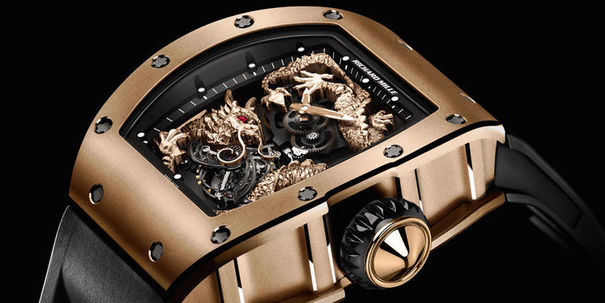 Montre sihh 2012 Richard Mille RM 057 Tourbillon dragon © Richard Mille