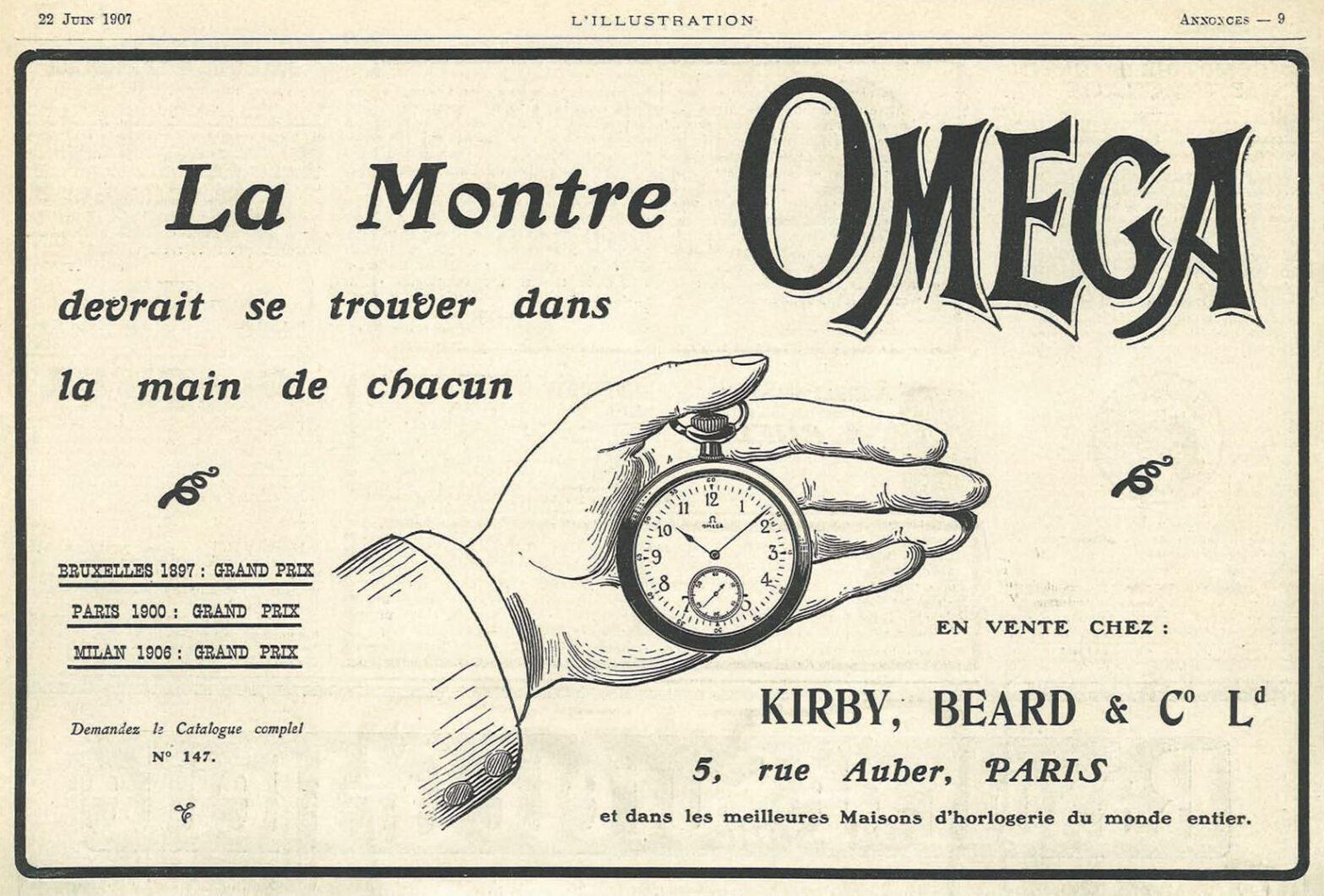 publicité Omega copyright Omega