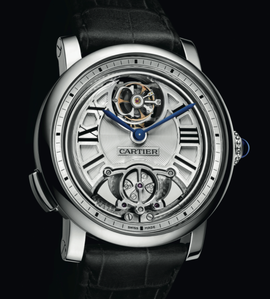 Montre Cartier-Rotonde-Répétition-Minutes-Tourbillon-Volant-