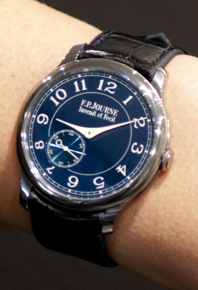 Montre chronomètre bleu francois paul journe
