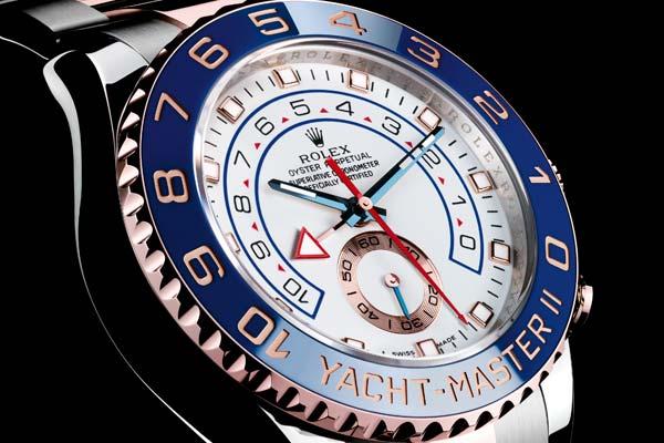 Rolex Yacht Master II or rose et acier