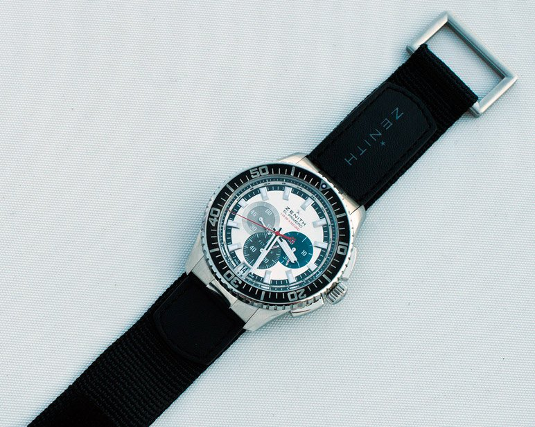 lla fameuse montre zenith portée par Felix Baumgartner durant le Red Bull Stratos Predrag Vuckovic copyright