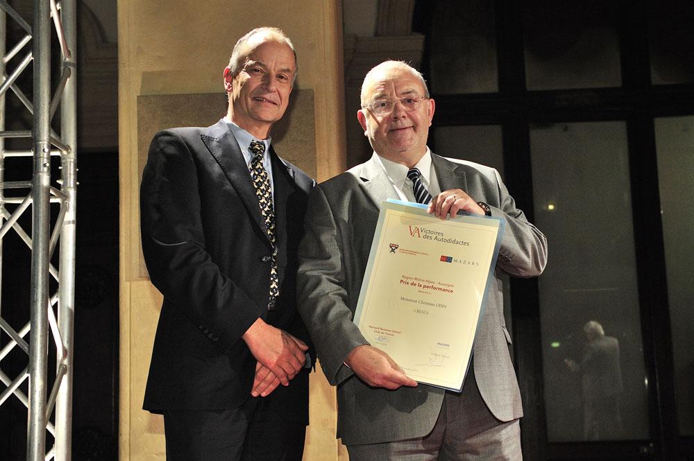 VICTOIRES_AUTODIDACTES_2012_001 Christian Odin Président de Cresus remporte le prix de la performance