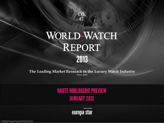 world watch report 2013 Vos montres préférées : ce que disent les chiffres du web