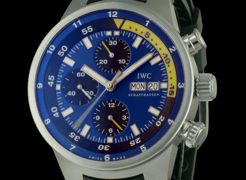 1-montre-iwc-cousteau-divers-chronographe-24986 montre de luxe d'occasion cresus