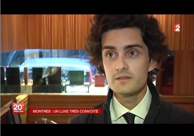 romain marsot expert horloger cresus marché des montres de luxe sur France 2