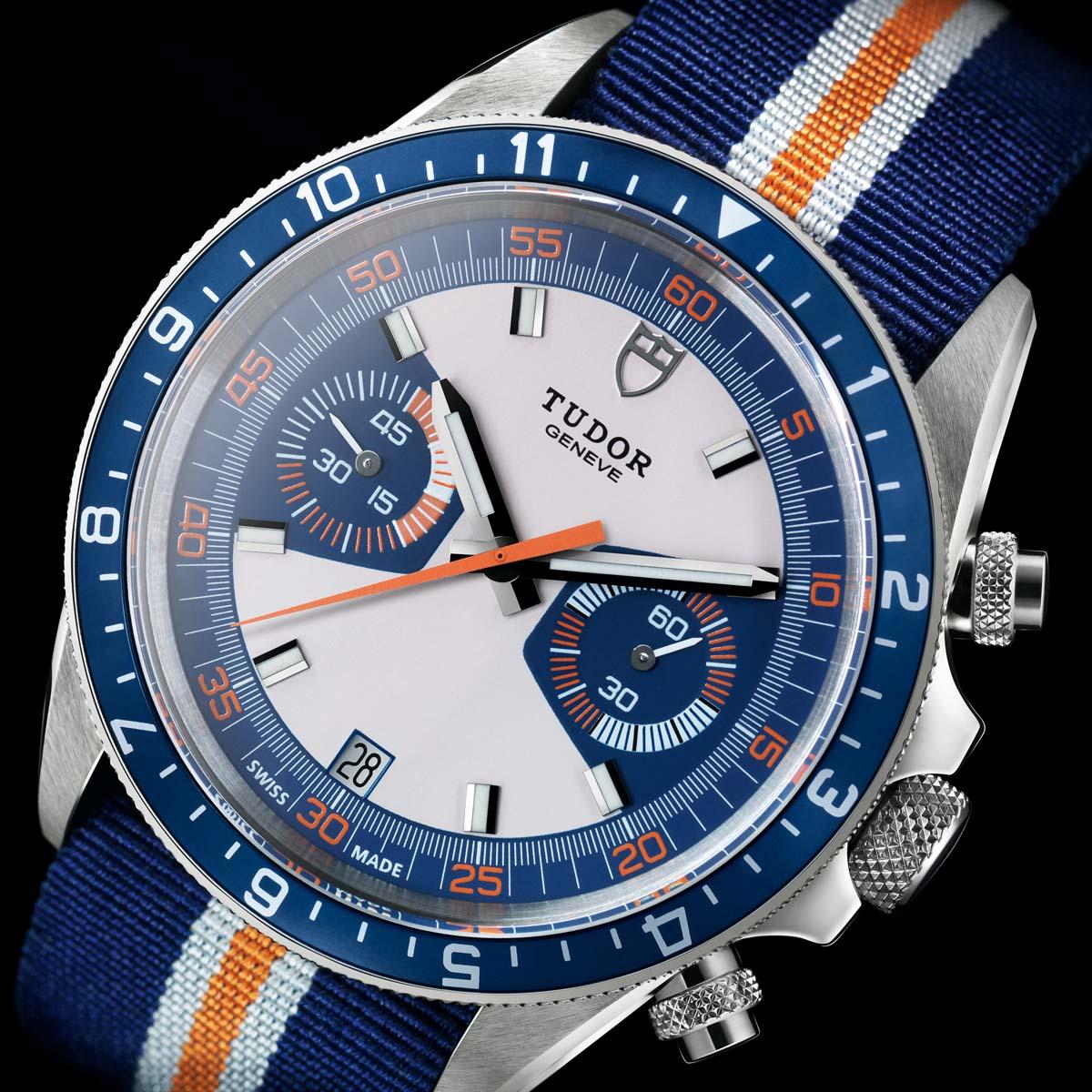 montre tudor heritage chrono blue