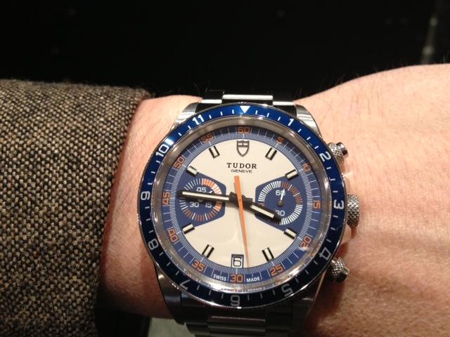 Tudor heritage chronographe blue cresus montres
