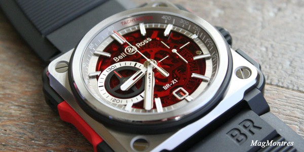 BR-X1-Skeleton- Red-edition limiée-cresus-copyright-magmontres-Bell-ross
